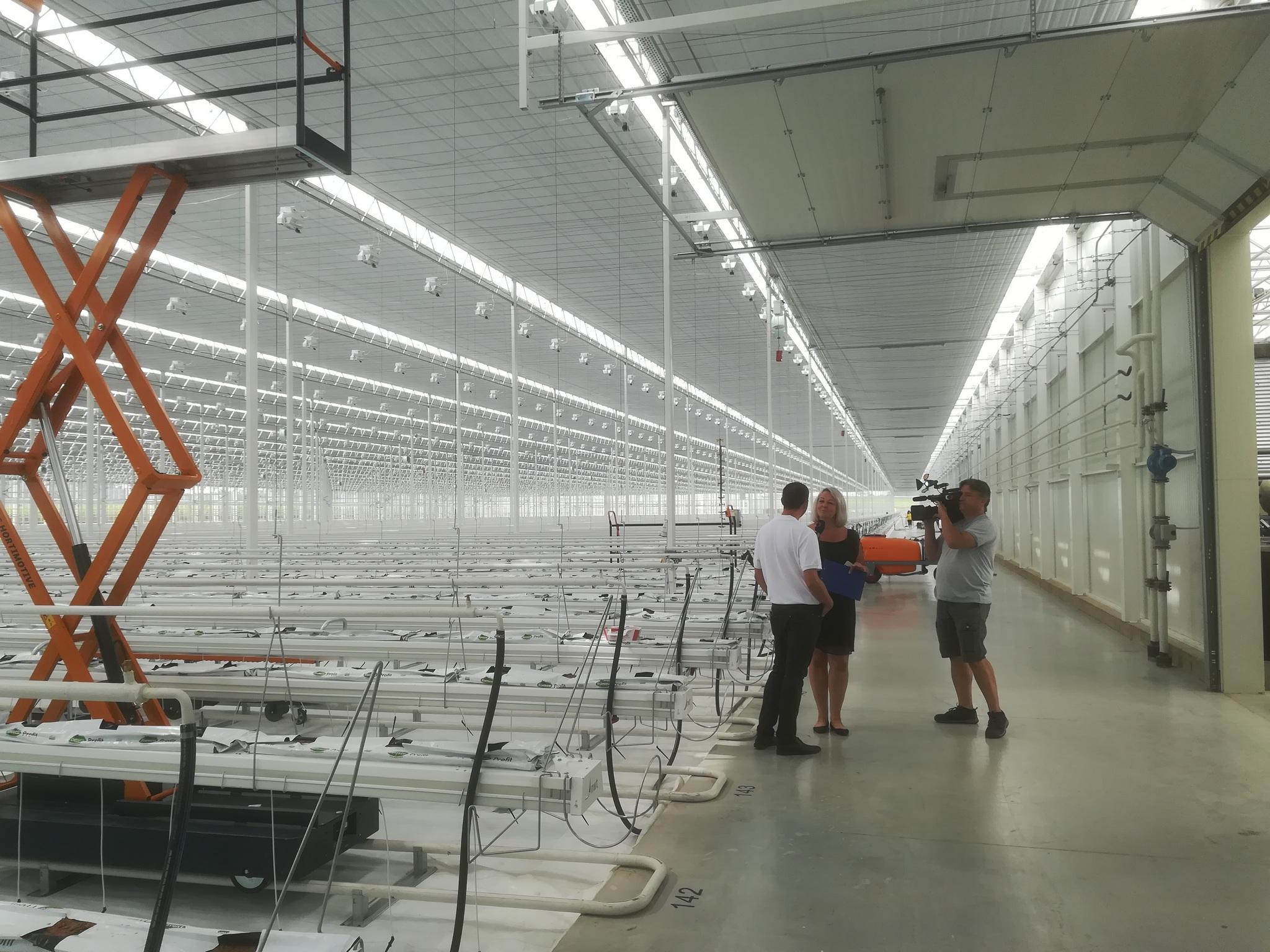 Den otevřených dveří v nově vybudovaném skleníku Farma Kožichovice